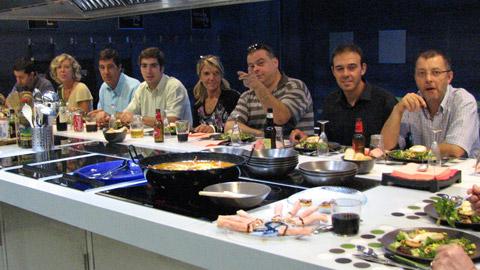 Visita de clientes de Cataluña