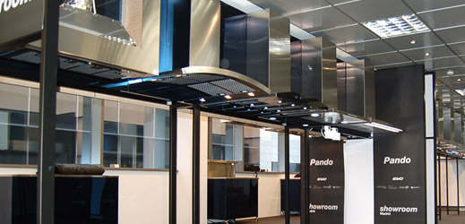 Nuevo showroom campanas extractoras Pando en Madrid