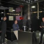 Visita cliente BGV Solsona en nuestro showroom de campanas de cocina PANDO